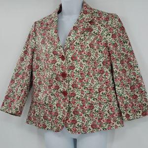 Talbots petites floral blazer 12p